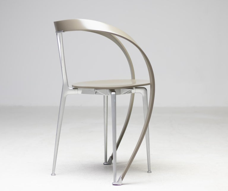 Late 20th Century Set of Six Revers Chairs by Andrea Branzi for Cassina