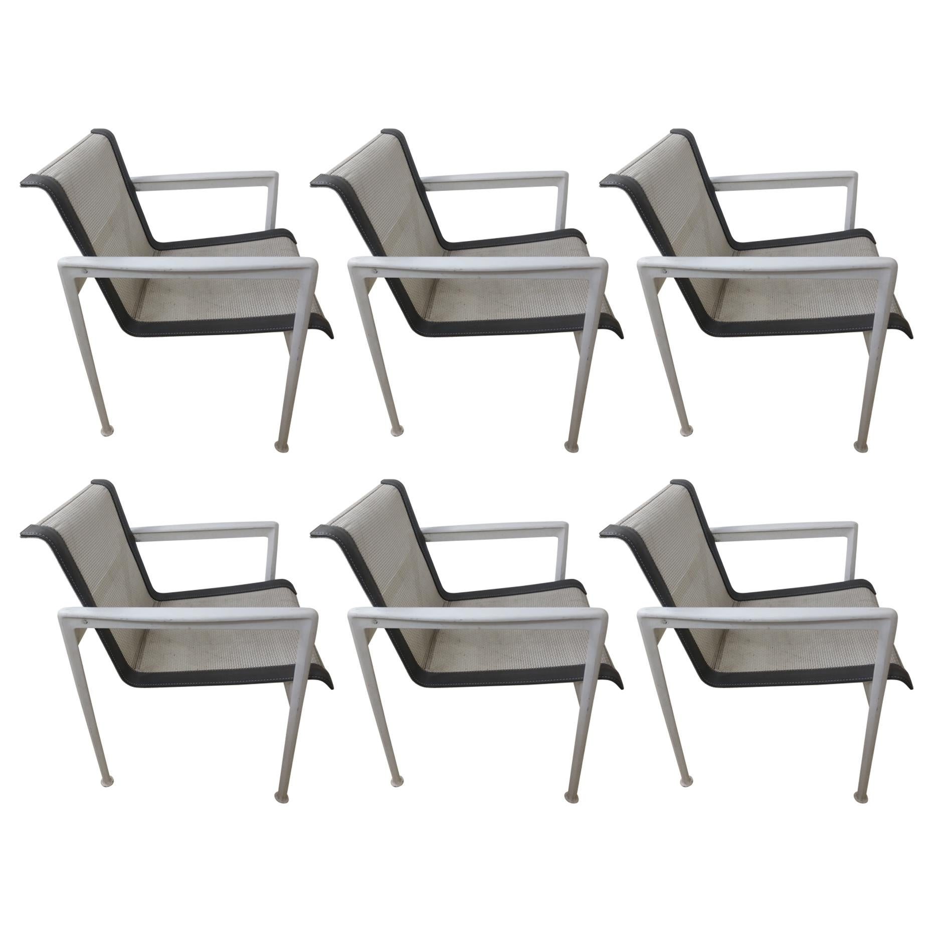 Set of Six Richard Shultz Outdoor Dining Chairs for Knoll