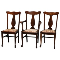 Magnificent Six Antique Carved Walnut Velvet Upholstered Eastlake Dining Cjindustries Chair Design For Home Cjindustriesco