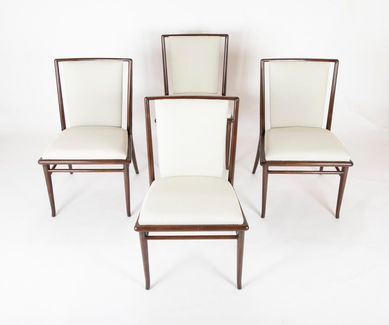 Mid-Century Modern Set of Six Robsjohn-Gibbings Dining Chairs For Sale