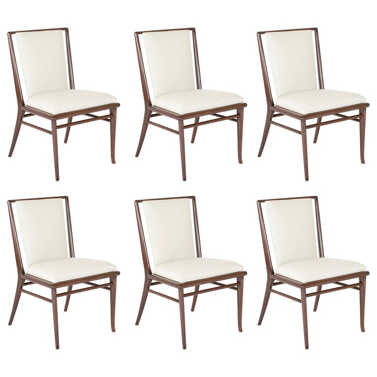 Set of Six Robsjohn-Gibbings Dining Chairs For Sale