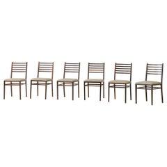 Set of Six Rosewood Chairs Model 4015 by Geraldo de Barros, Unilabor, 1950s