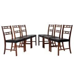 Set of Six Rosewood Dining Chairs by Ole Wanscher