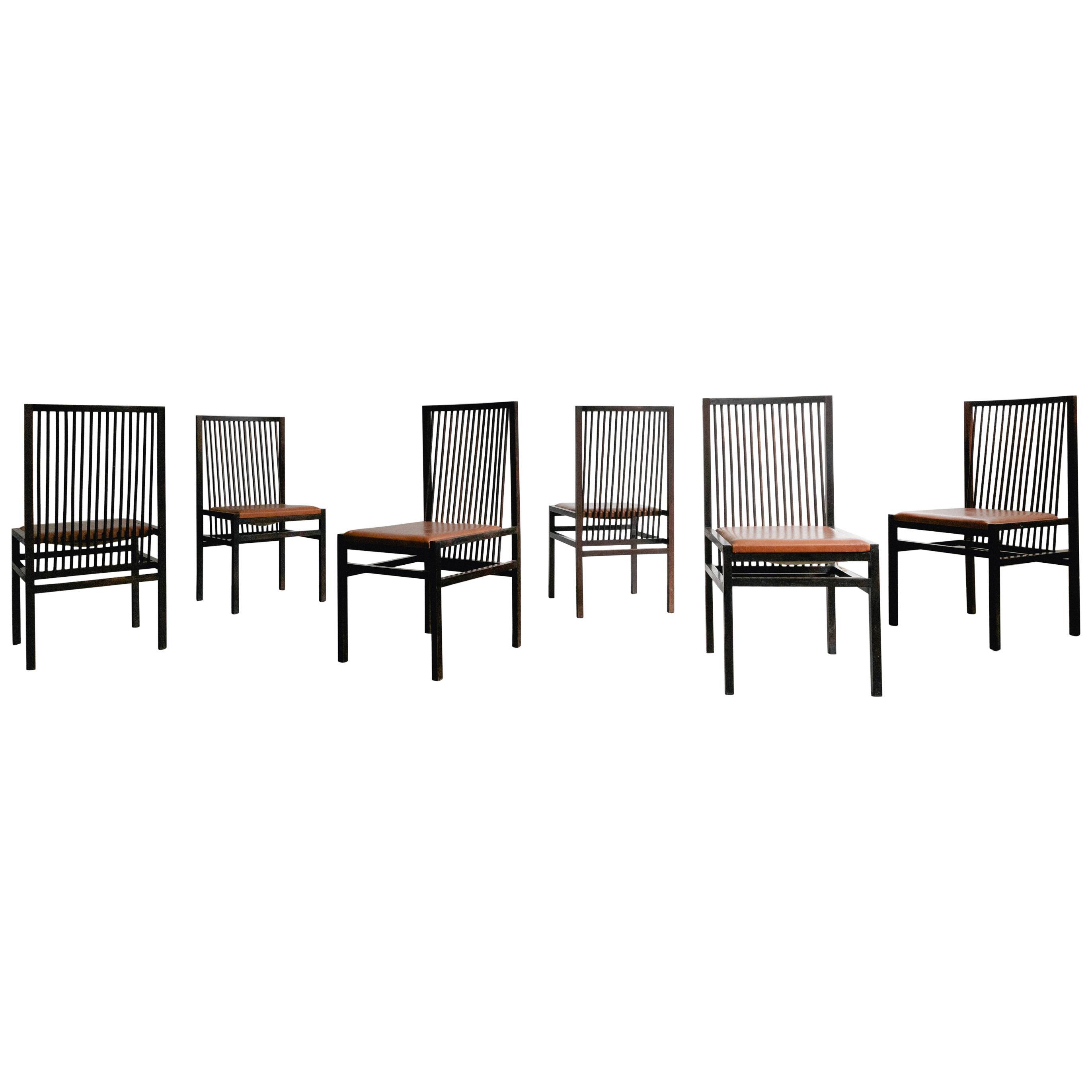 Set of Six Rosewood Estrutural Chairs by Joaquim Tenreiro. Mid Century, Brazil