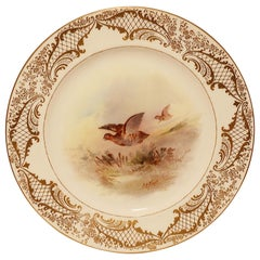 Set of Six Royal Doulton Game Plates Painted by J H Plant