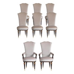Set of Six S/4600 Dining Chairs and Two P/4600 Armchairs by Zanaboni
