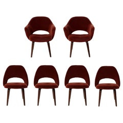 Set of Six Saarinen for Knoll Executive Dining Chairs