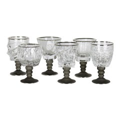 Set of Six Sabaudia Chalices