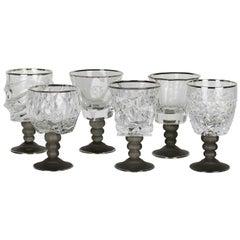 Set of Six Sabaudia Chalices