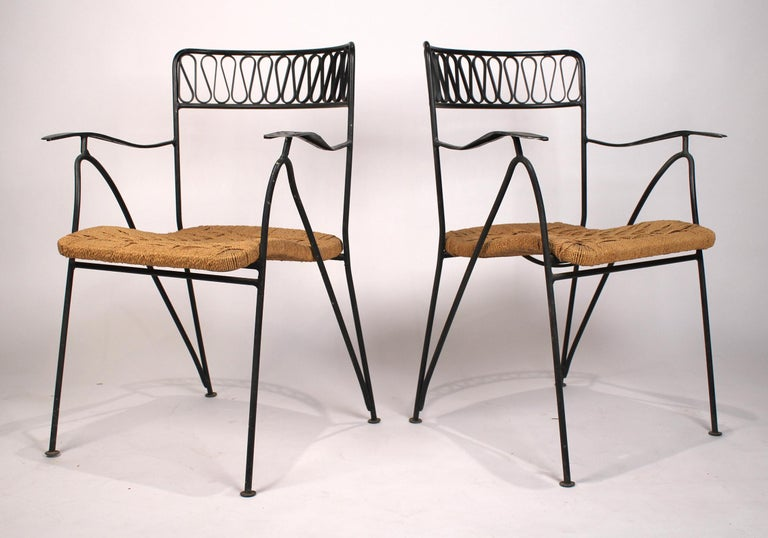 Mid-Century Modern Set of Six Salterini Chairs by Maurizio Tempestini For Sale
