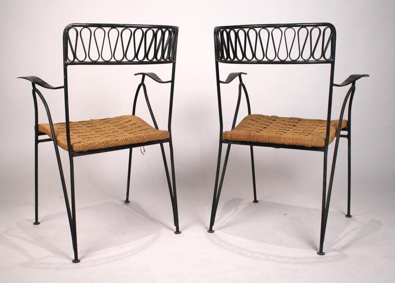 Metalwork Set of Six Salterini Chairs by Maurizio Tempestini For Sale
