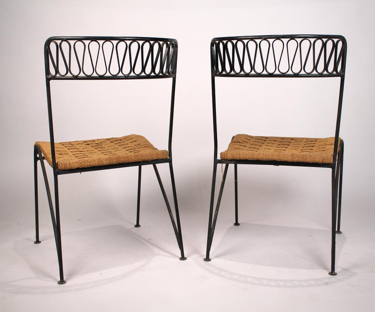 Iron Set of Six Salterini Chairs by Maurizio Tempestini For Sale