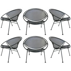 Set of Six Salterini 'Radar' Collection Garden Lounge Chairs