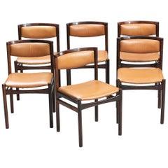 Set of Six Sax Møbelfabrik Rosewood Dining Chairs