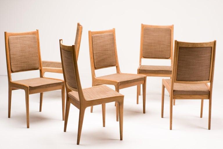Set of Six Scandinavian Dining Chairs by Karl Erik Ekselius for JOC For Sale 3