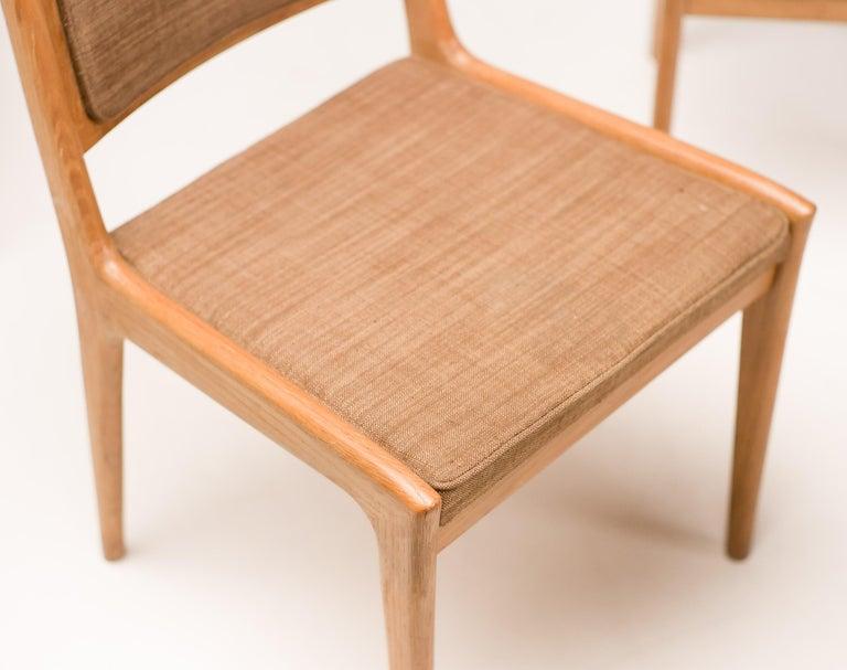 Swedish Set of Six Scandinavian Dining Chairs by Karl Erik Ekselius for JOC For Sale