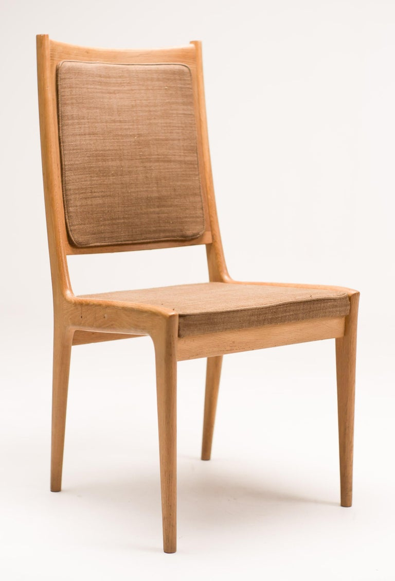 Fabric Set of Six Scandinavian Dining Chairs by Karl Erik Ekselius for JOC For Sale