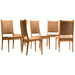 Set of Six Scandinavian Dining Chairs by Karl Erik Ekselius for JOC
