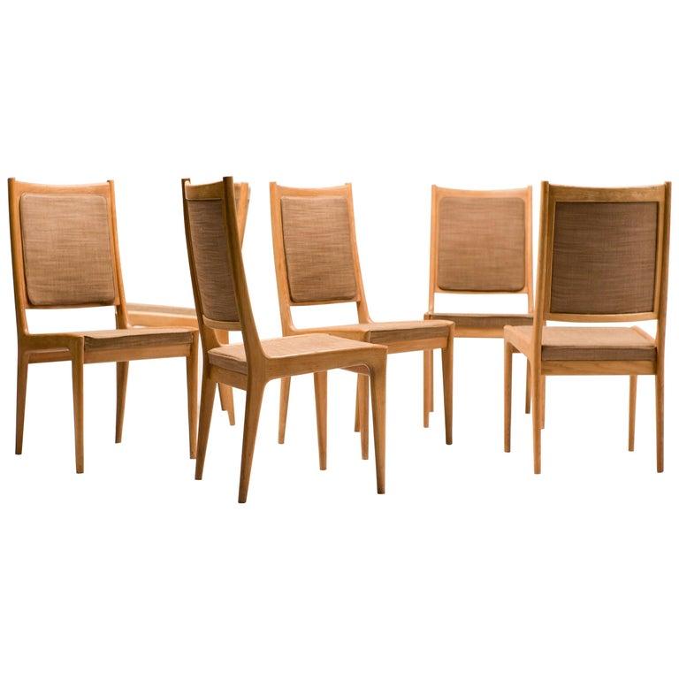 Set of Six Scandinavian Dining Chairs by Karl Erik Ekselius for JOC For Sale