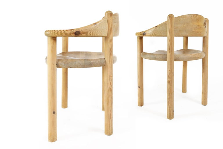Set of Six Scandinavian Dining Room Chairs in Pine by Rainer Daumiller For Sale 4