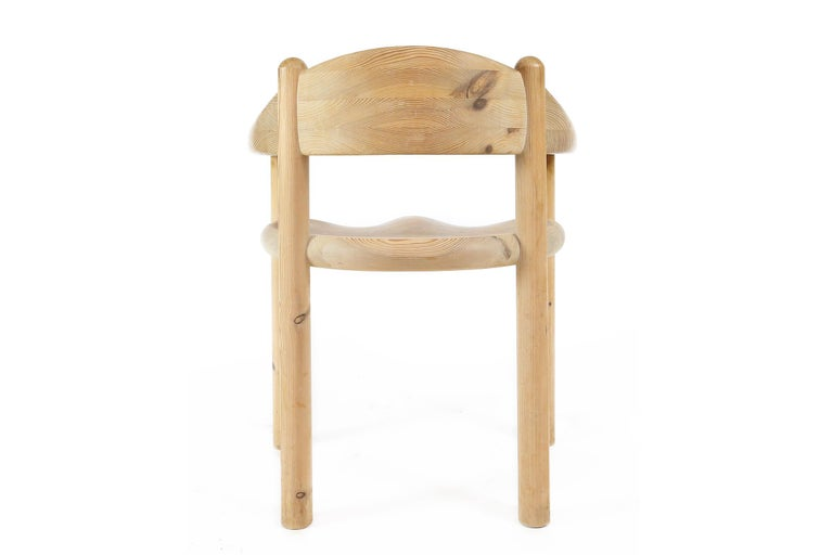 Set of Six Scandinavian Dining Room Chairs in Pine by Rainer Daumiller For Sale 3