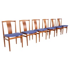 Set of Six Scandinavian Teak Chairs 1968, Hening Sørensen