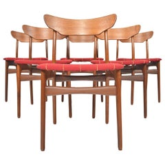 Set of Six Schionning and Elgaard Danish Teak Dining Chairs