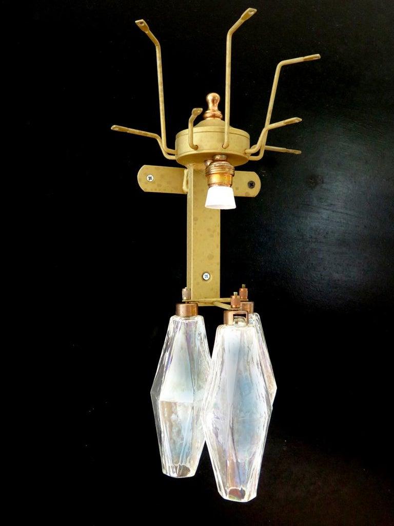 Set of Six Sconces Iridescent Glass