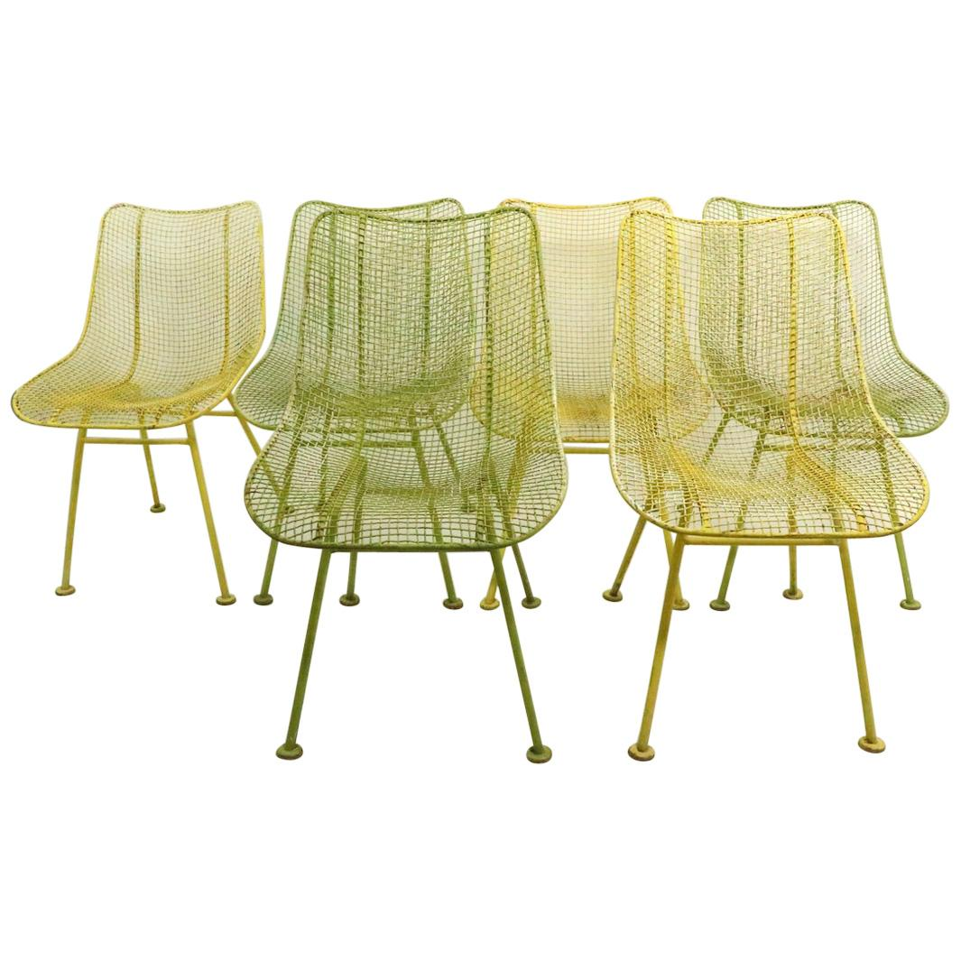 Set of Six Sculptura Dining Chairs by Woodard