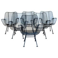 Set of Six Sculptura Lounge Chairs by Russell Woodard