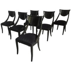 Set of Six Sculptural Dining Chairs by Pietro Constantini for Ello