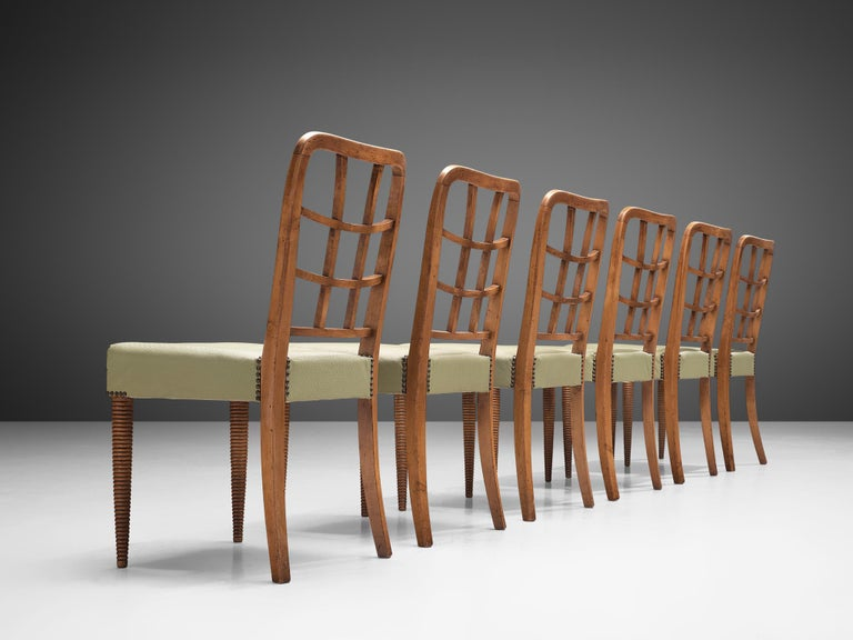 Set of Six Sculptural Italian Dining Chairs In Good Condition For Sale In Waalwijk, NL