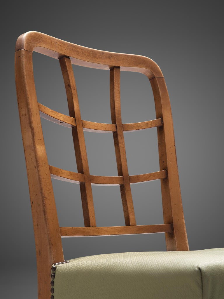 Set of Six Sculptural Italian Dining Chairs For Sale 1