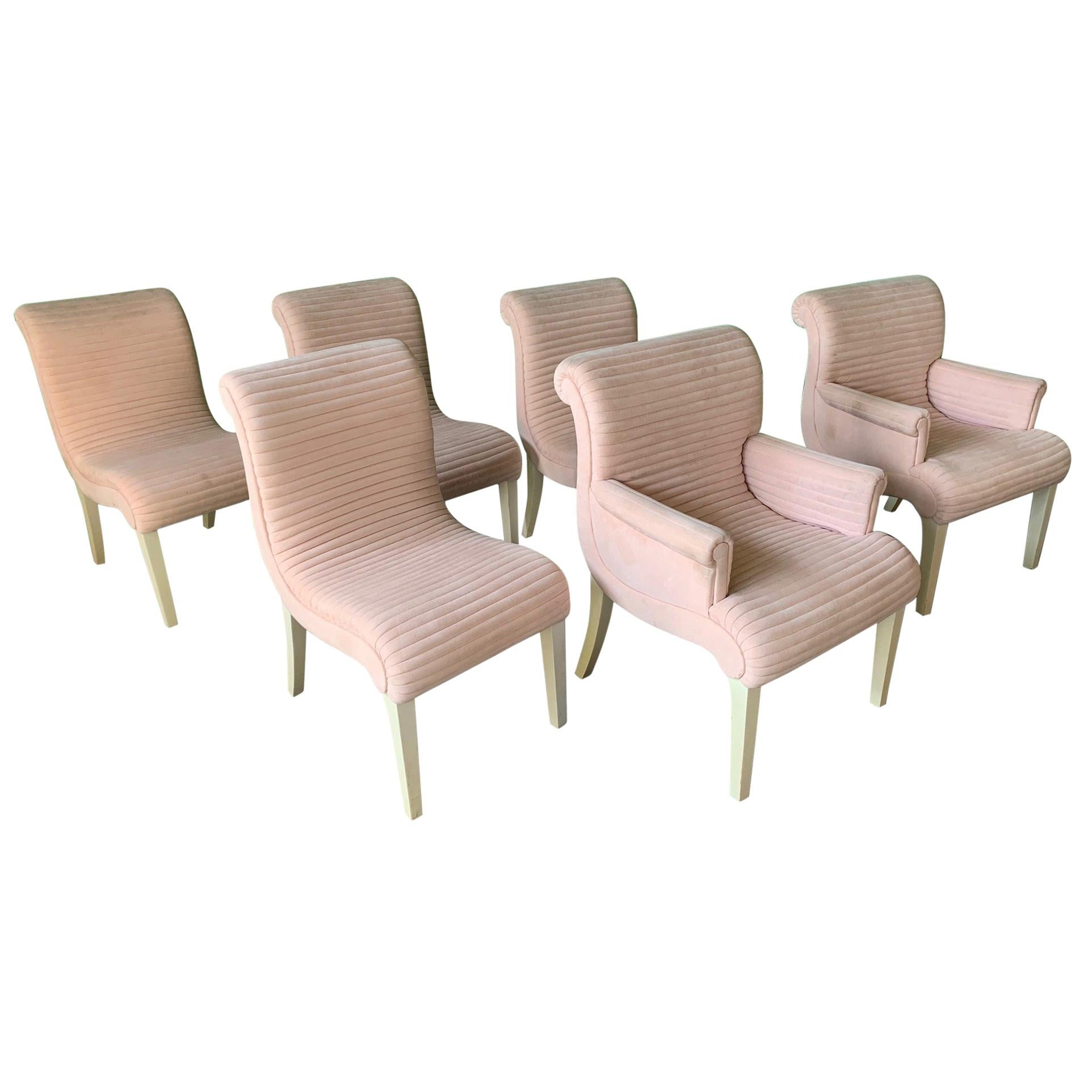 Set of Six Sculptural Pink Tufted Dining Chairs For Sale  sc 1 st  1stDibs & Set of Six Sculptural Pink Tufted Dining Chairs For Sale at 1stdibs