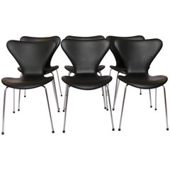 Set of Six Seven Chairs, Model 3107 by Arne Jacobsen and Fritz Hansen, 1967