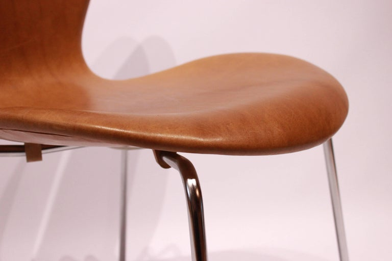 Set of Six, Seven Chairs Model 3107 by Arne Jacobsen and Fritz Hansen For Sale 1