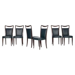 Set of Six Sidechairs from Vittorio Dassi from Italy, 1950s