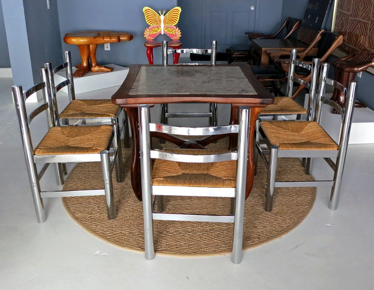 Set of Six Silla Mexico by Diego Matthai In Good Condition For Sale In North Miami, FL