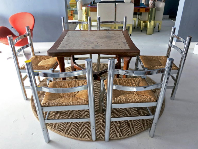Late 20th Century Set of Six Silla Mexico by Diego Matthai For Sale