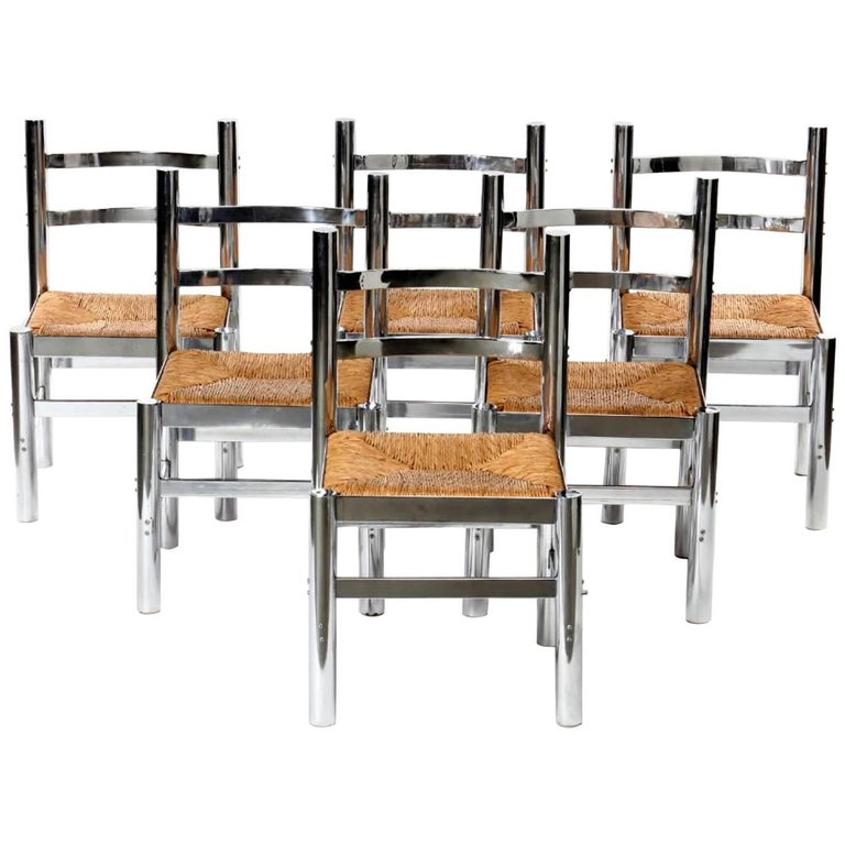 Set of Six Silla Mexico by Diego Matthai For Sale