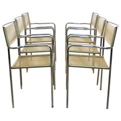 Set of Six Spaghetti Chairs by Giandomenico Belotti for Alias, Italy, 1970