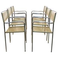 Set of Six Spaghetti Chairs by Giandomenico Belotti for Alias, Italy, 1970