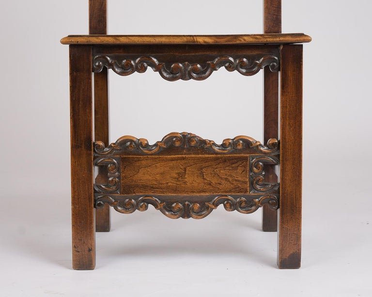 Set of Six Spanish Style Dining Chairs In Good Condition For Sale In Los Angeles, CA