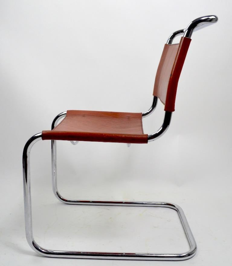 Set of Six Spoleto Chairs Attributed to Knoll After Breuer For Sale 4