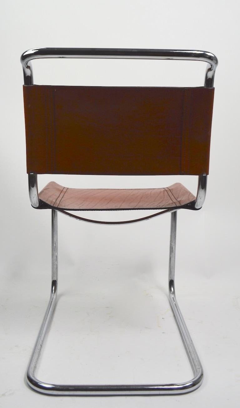 Set of Six Spoleto Chairs Attributed to Knoll After Breuer For Sale 5