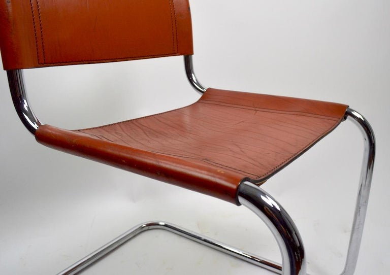 20th Century Set of Six Spoleto Chairs Attributed to Knoll After Breuer For Sale