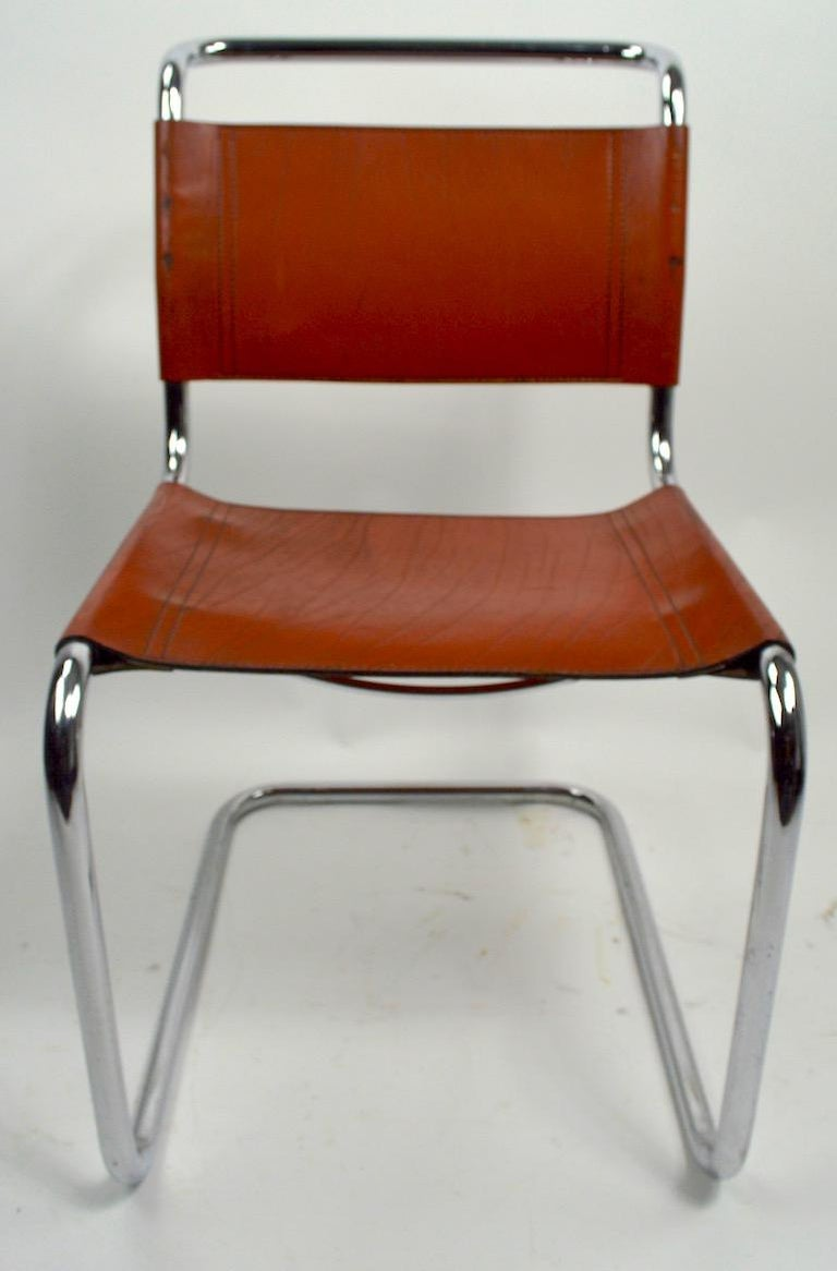 Set of Six Spoleto Chairs Attributed to Knoll After Breuer For Sale 2