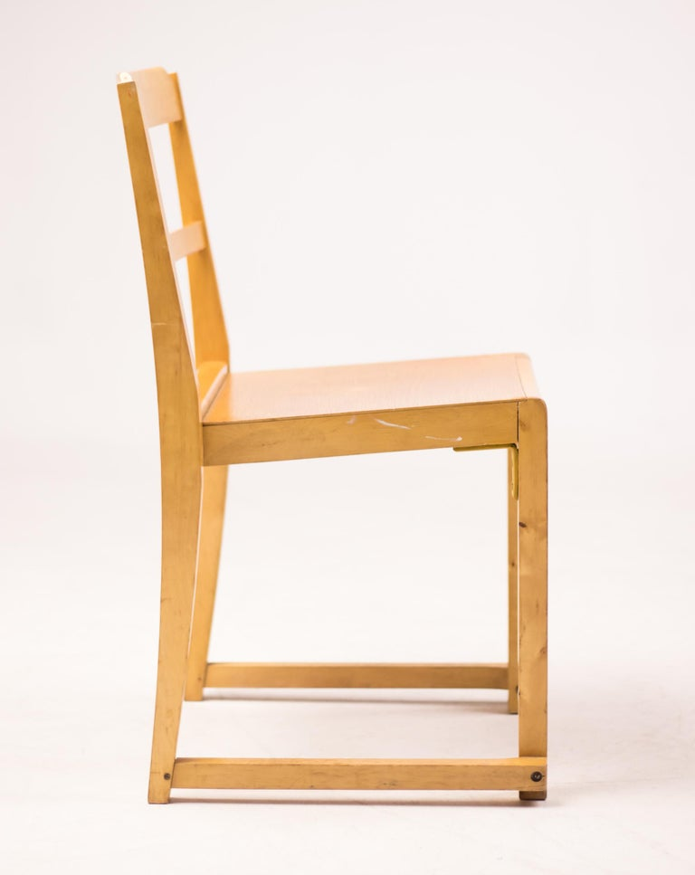 Mid-20th Century Set of Six Stacking Chairs by Sven Markelius For Sale