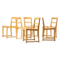 Set of Six Stacking Chairs by Sven Markelius