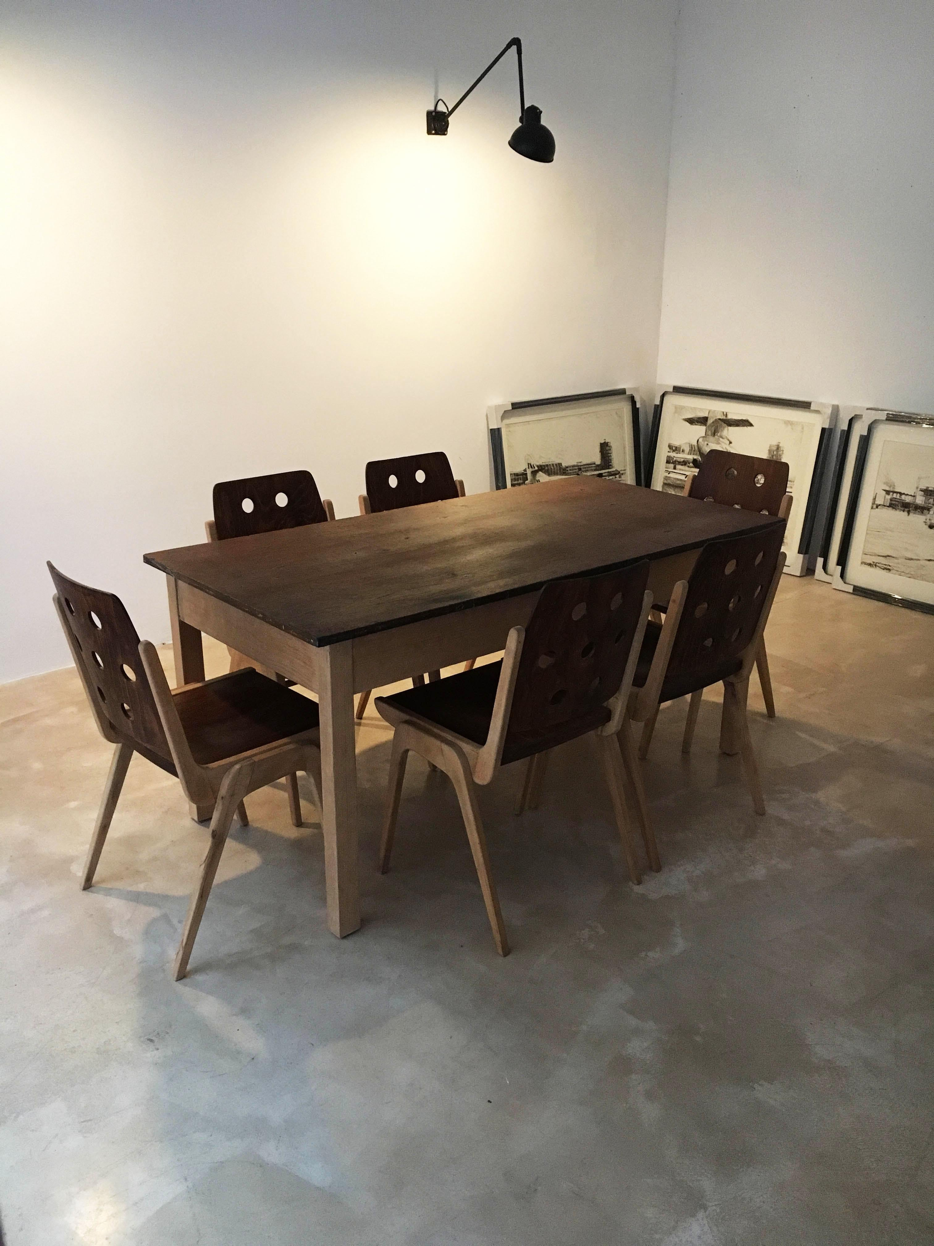 For Adrienne Set Of Five Stacking Dining Chairs Franz Schuster Austria 1950s
